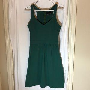 Green strap sun dress